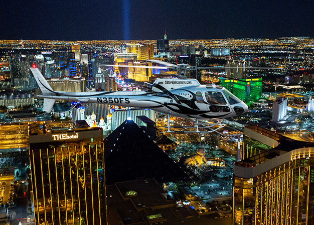 Las Vegas VIP Night Strip Helicopter Flight  Best Vegas Adventures